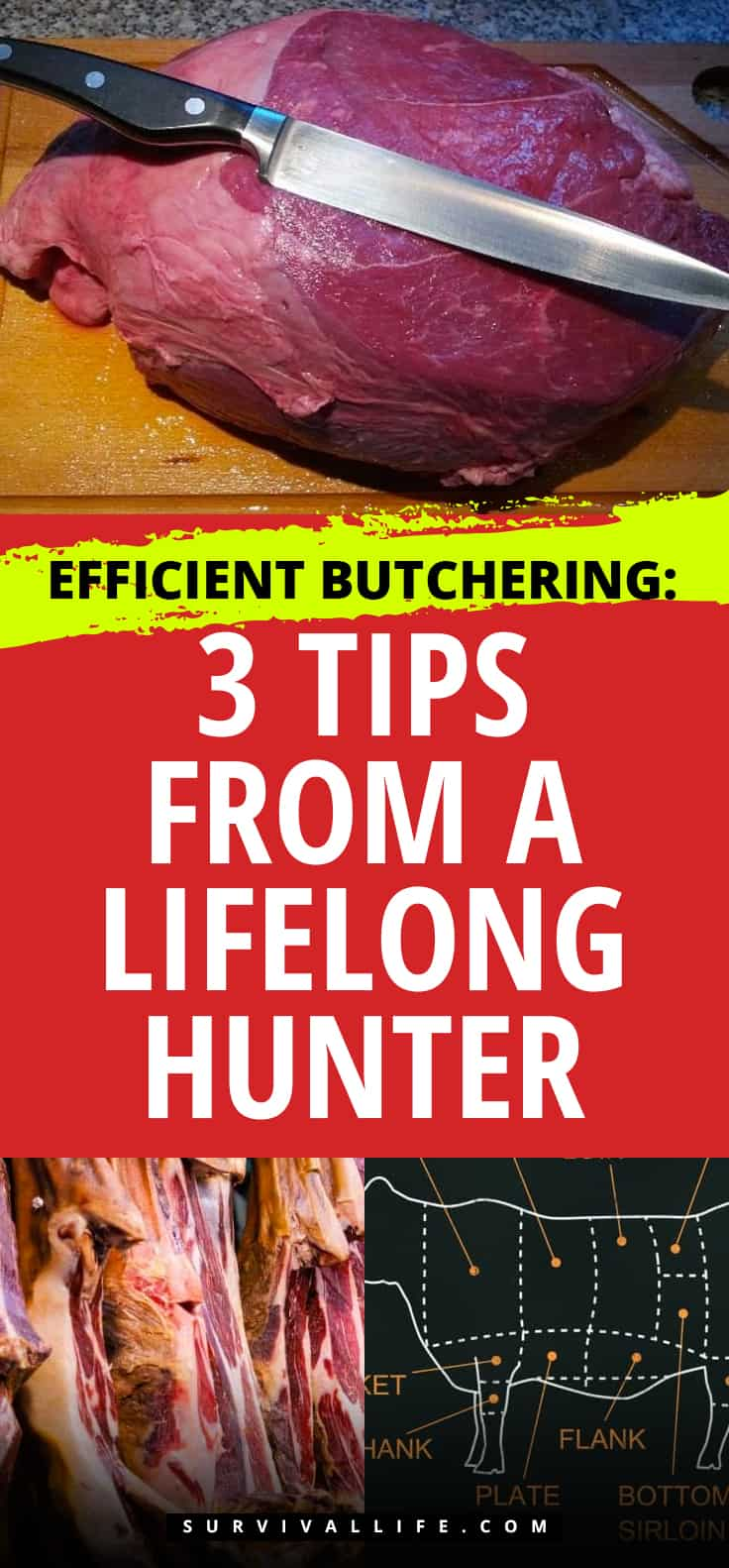 Pinterest Placard   Efficient Butchering: 3 Tips from a Lifelong Hunter   Butchering Tips