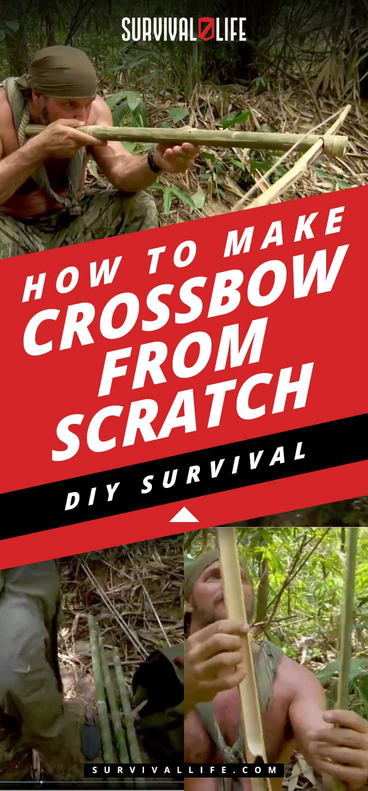 DIY Survival: How To Make A Crossbow From Scratch [Video] | https://survivallife.com/diy-survival-make-a-crossbow-from-scratch/