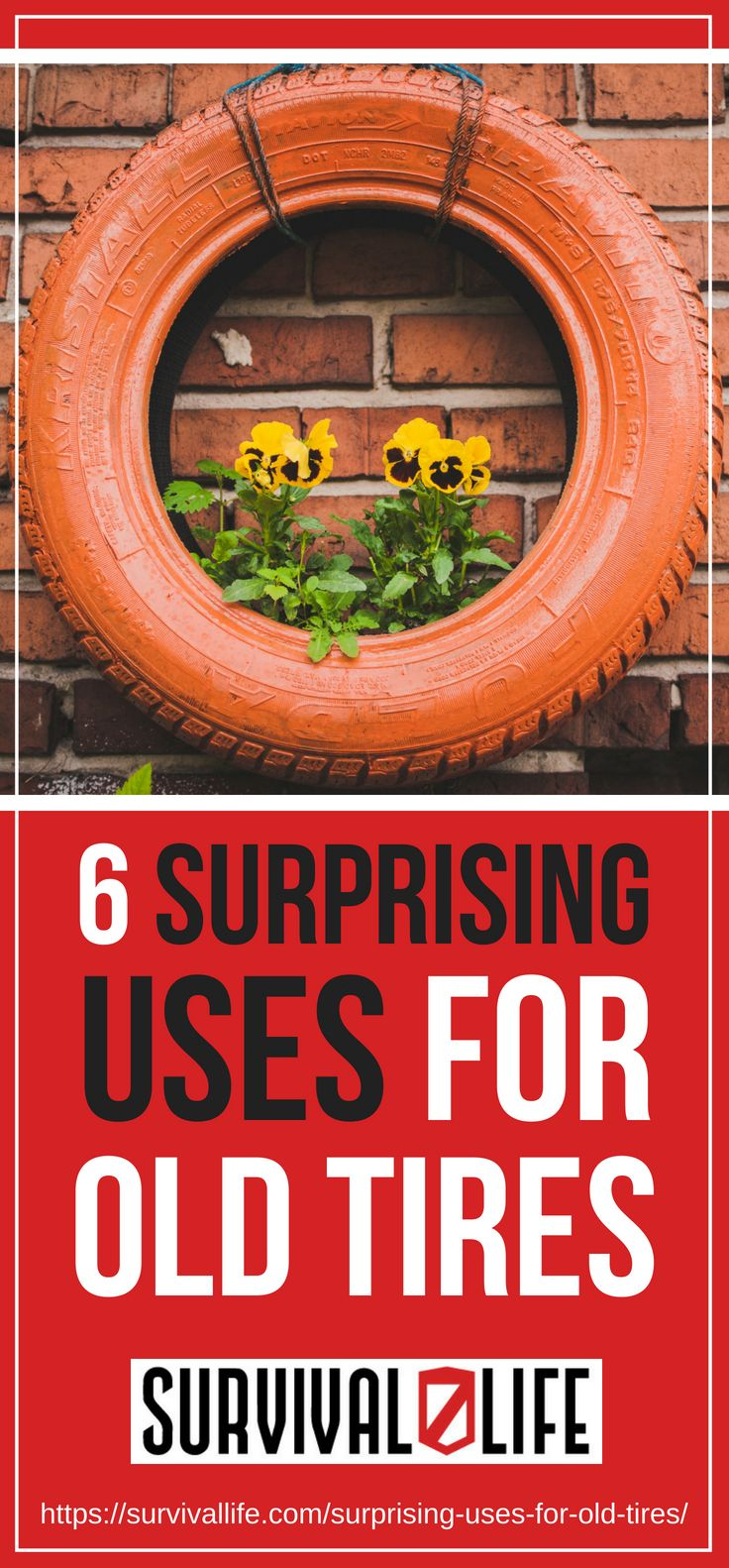 Surprising Uses For Old Tires | https://survivallife.com/surprising-uses-for-old-tires/