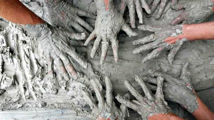 "Hands with cement | ""Old World"" Primitive Survival Skills You'll WISH You Knew Before SHTF"