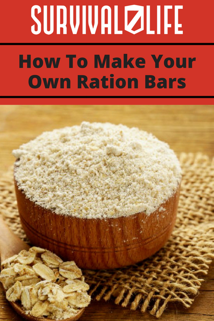 Placard | Make Your Own Ration Bars | Emergency Ration Bar Recipe