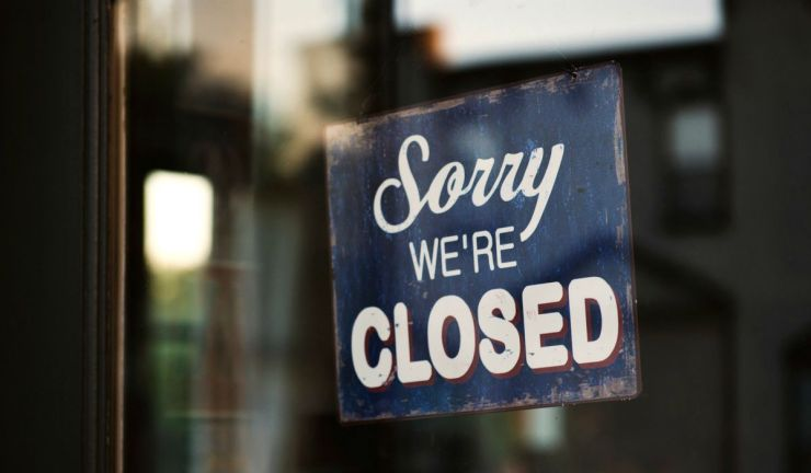 Sorry we're closed sign | Tips For Sheltering In Place