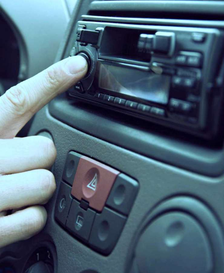 Pressing play button car radio | Tips For Sheltering In Place