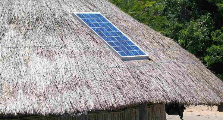 Straw hut solar panel roof | Off-Grid Solar Survival: Top Things To Consider Before Diving In