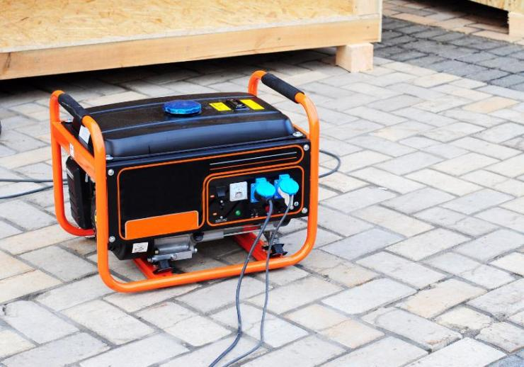 gasoline portable generator on house construction | goodman gas furnace
