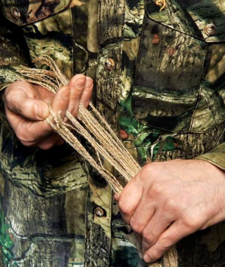 Separate the Strands | how to make a ghillie suit for hunting