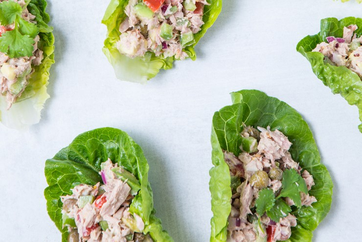 Mediterranean Tuna Lettuce Wraps | No Cook Meals for Surviving the Pandemic and Food Supply Shortages