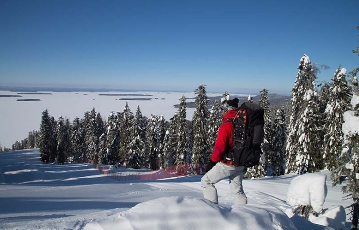 snowshoe hiker on koli | how to prepare for an avalanche
