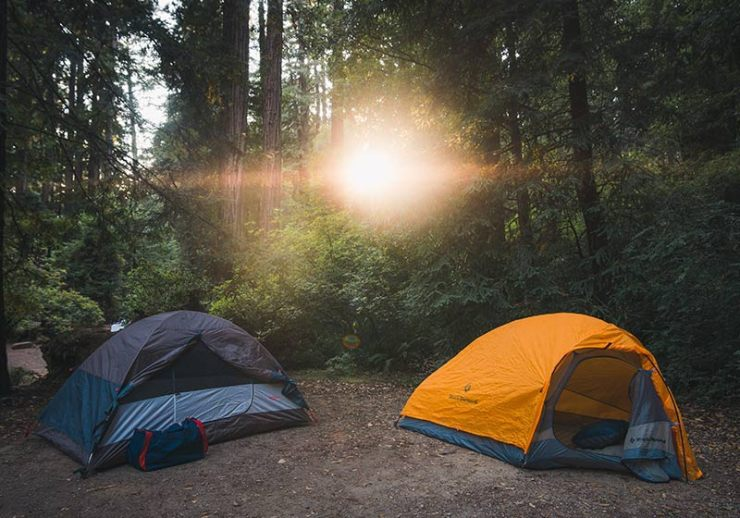 tents in the woods | packing for backpacking