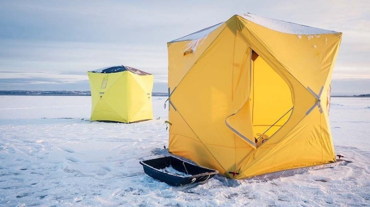 tents on winter fishing | advanced ice fishing tips