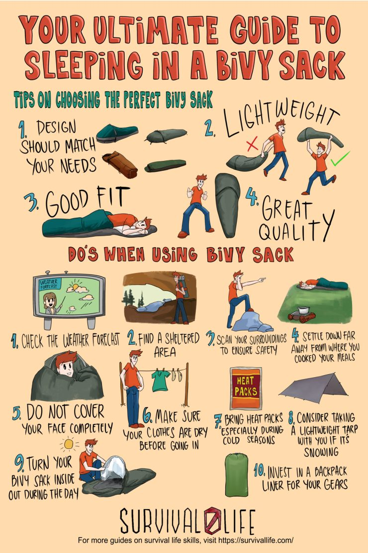 Your Ultimate Guide To Sleeping In A Bivy Sack Infographic