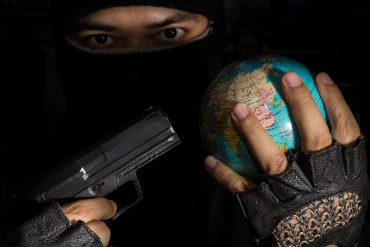 Danger terrorist for the world-battle belts