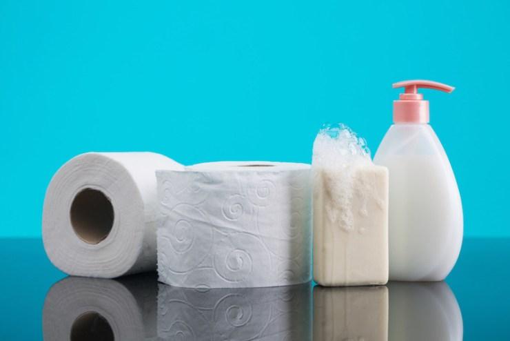 Bar of Soap, Liquid Soap, and Toilet Paper Emergency Bag List