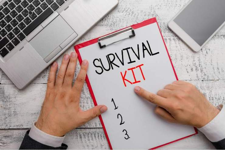 Writing-note-showing-Survival-Kit.-Business-photo-showcasing-Emergency-Equipment-Collection-of-items-to-help-someone-BUDGET-SURVIVAL-KIT