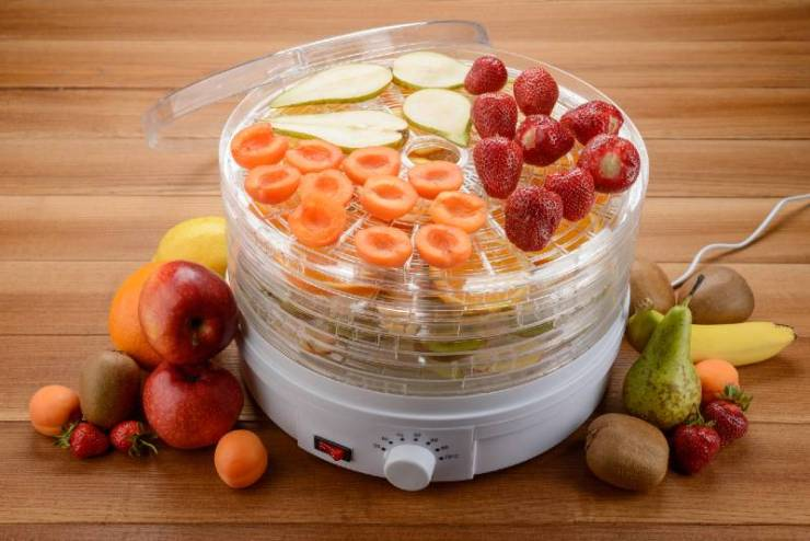 Food dehydrator and fruits on a wooden table | foods to dehydrate