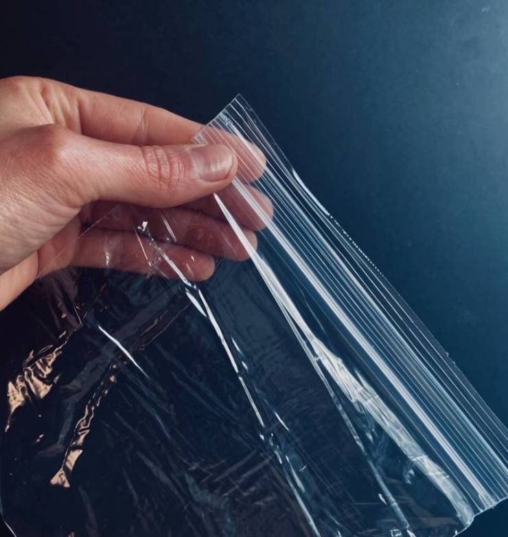 Shiny Ziploc Bag storage bag with black background-Camping In The Rain
