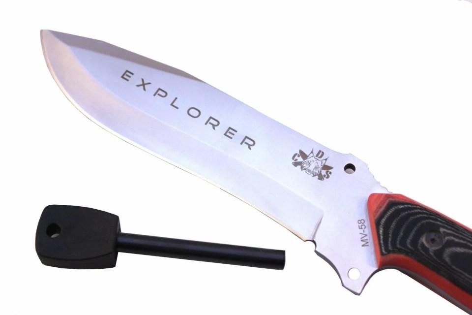 CDS Explorer One Black Outdoormesser Feuerstahl