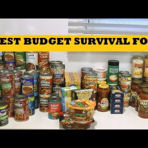 Best Budget Survival Foods Walmart - Prepping Basic Food Storage When Money's Tight