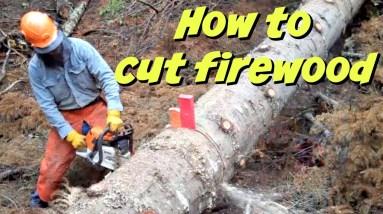 How To Cut Firewood like A PRO