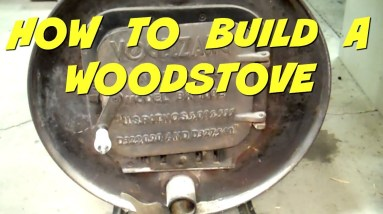 Wood Stove Made From 55 Gallon Drums