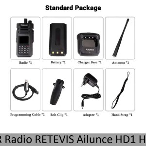 ✓ DMR Radio RETEVIS Ailunce HD1 Ham Radio Digital Walkie Talkie Waterproof GPS VFO FM 10W VHF UHF D