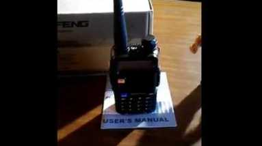 "My ""new""survival radio  the Baofeng uv-5r"