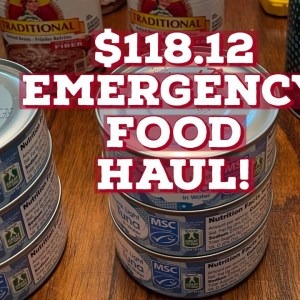 Prepper Pantry Emergency food haul!