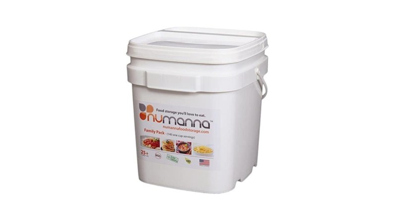 NuManna INT-NMFP 144 Meals, Emergency Survival Food Storage Kit, Separate Rations, in a Bucket, 25