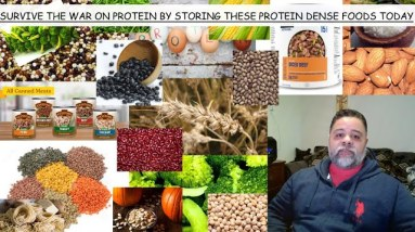 """FIFTEEN """"PROTEIN DENSE"""" FOODS YOU CAN PUT AWAY FOR LONG TERM STORAGE RIGHT NOW WHILE YOU STILL CAN"""