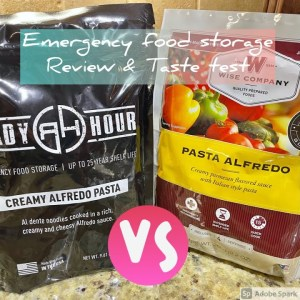 Emergency food storage review and taste test. Ready Hour vs. Wise Company.