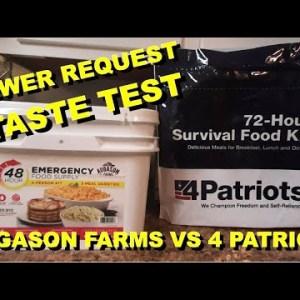 25+ Year Storage Foods: Augason Farms Vs 4 Patriots TASTE TEST