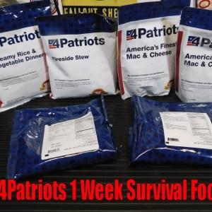4Patriots 1 Week Survival Food Kit:  Mac and Cheese Test
