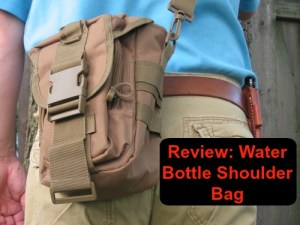 Water bottle shoulder bag cover