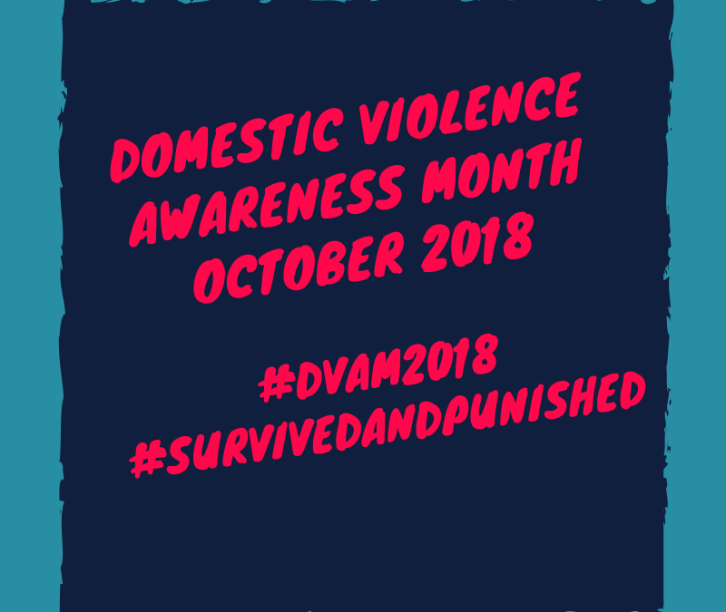 October Domestic Violence Awareness Month 2018