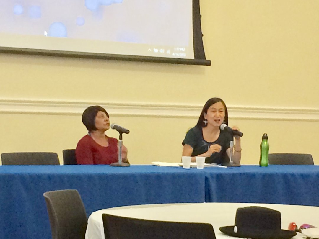 Vikki Law (right) interviewing NYS clemency recipient, Valerie Seeley at Free them All: Mass Commutations Convening