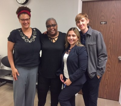 Alisa Bierria (S&P), Roshawn Knight, Janae Torrez (Roshawn's amazing public defender), and Colby Lenz (S&P)