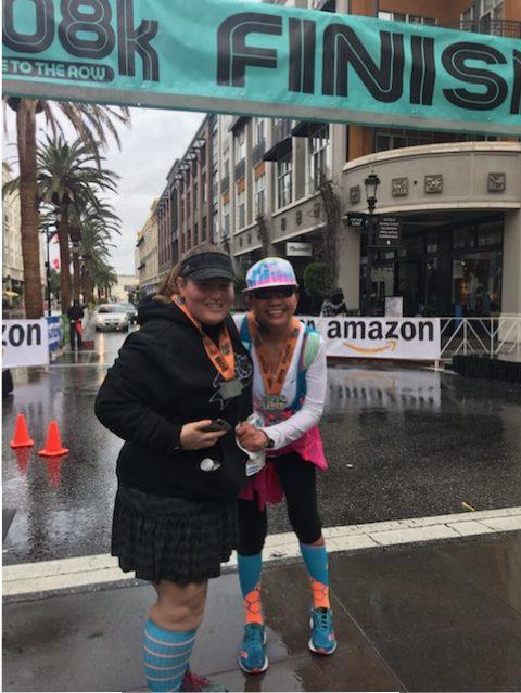 rainbows, downtown san jose, 408k, finish line, angels, runners