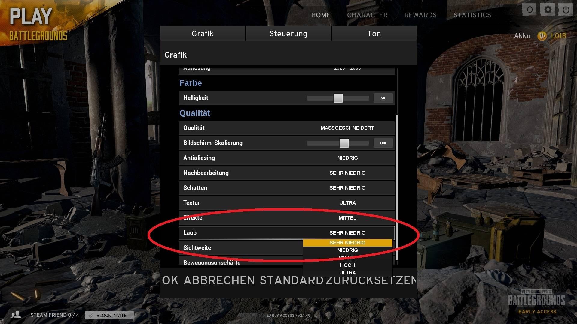 PlayerUnknown's Battlegrounds Tipps Grafik Einstellungen