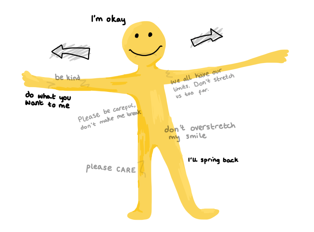 We're all like stretchy yellow men sometimes..