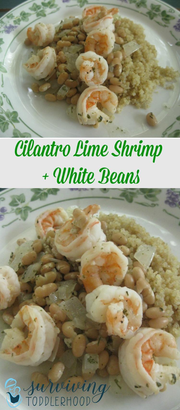 Trim Healthy Mama E Meal - Shrimp and White Beans