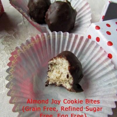 Almond Joy Cookie Bites {Grain Free, Refined Sugar Free, Egg Free}