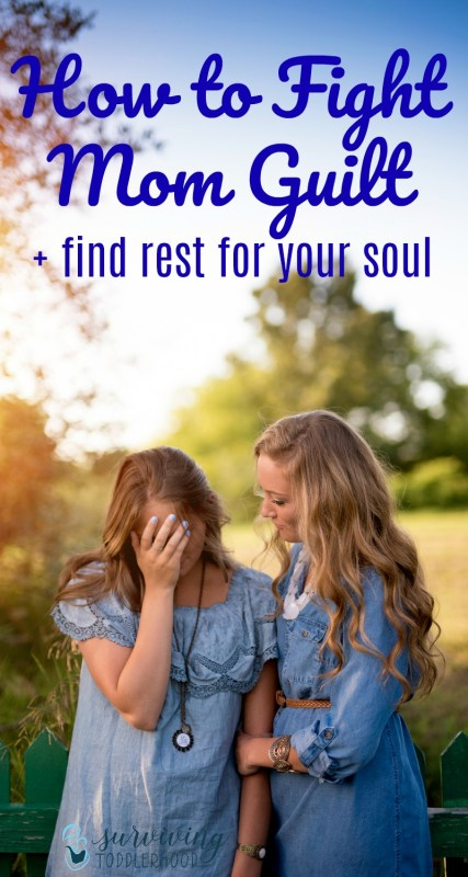 "Fight Mom Guilt + Find Rest for Your Soul. Do you feel overwhelmed with all the ""mom stuff"" but then feel guilty that you need time away? Here are 3 reasons that we need to get rid of the mom guilt, + an example of rest from Scripture. Christian Motherhood 