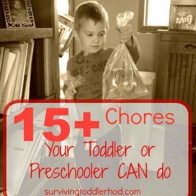15+ Chores Your Toddler or Preschooler CAN Do