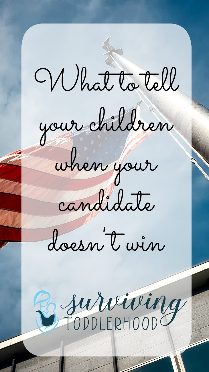 As christian parents how do we respond when our candidate of choice does not get elected? What do we tell our children about candidates we see as very flawed?