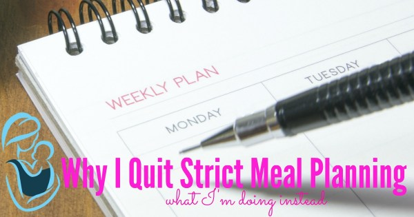 Have you tried meal planing, but just couldn't figure out a system that worked for you? Maybe you should ditch strict meal planning and try this instead. Meal Planning | Homemaking | Menu Plan | Once A Month Grocery Shopping |