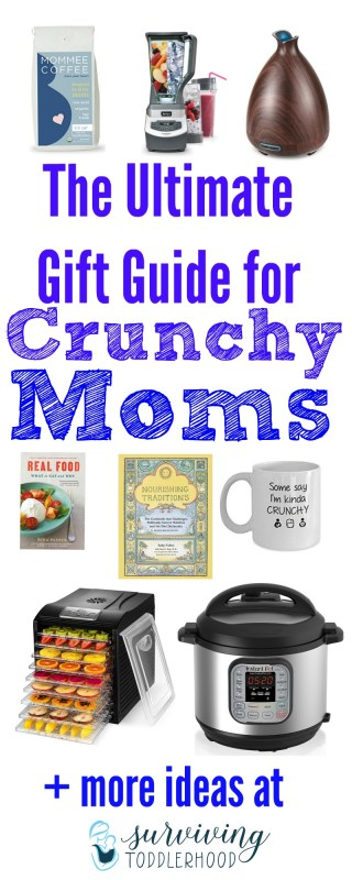 The Ultimate Gift Guide for Crunchy Moms. Wondering what to get for that crunchy mama on your list this year? Here is the ultimate gift guide just for you! Crunchy Mom | Gift Guide | Crunchy Mama | Mom Life | Christmas Gifts | Christmas Gifts for Mom | Motherhood | Natural Mothering | Sorta Crunchy | #sortacrunchy #crunchymom #crunchymama #momlife #giftsformom #motherhood