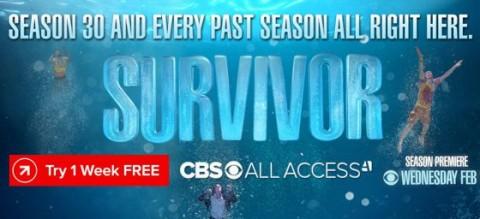 Survivor seasons on CBS All Access