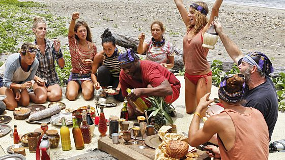 Survivor 2015: Tribe Merge chows down with celebration