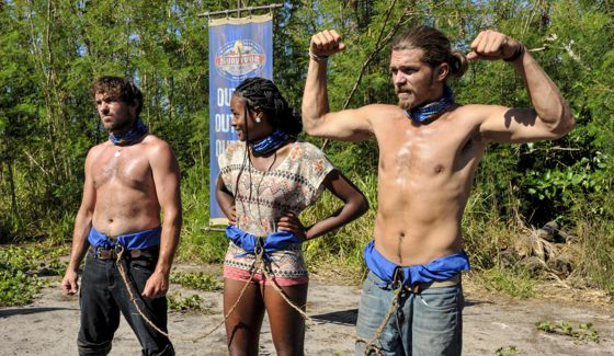 Survivor 2017's Nuku tribe at Immunity Challenge