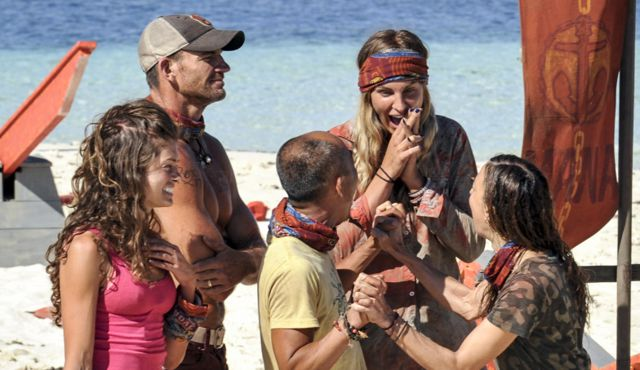 Survivor 2017 Mana tribe celebrates on Game Changers